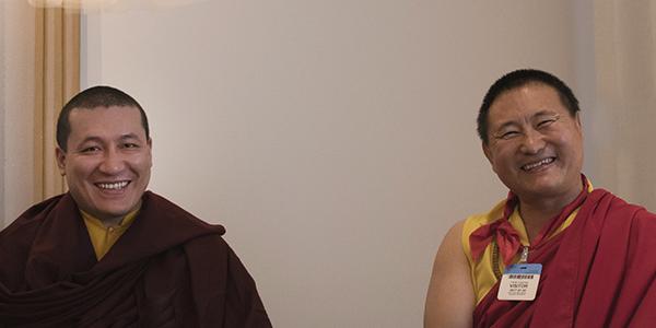 H.H. Karmapa Thaye Dorje & Lama Tsultim Rinpoche